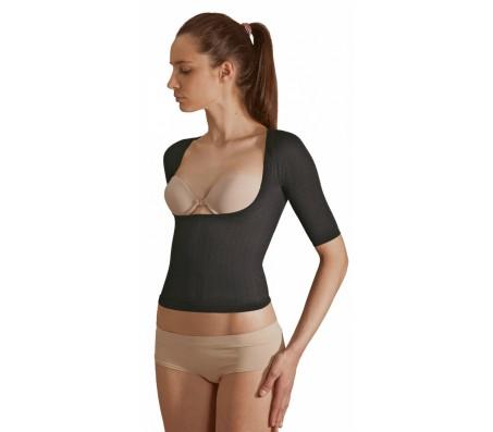 SOLIDEA Silver Wave Top mikromasažiniai marškinėliai atvira krūtine