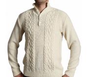 Vyriškas megztinis MARIUS nebalintos drobės