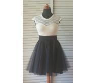 Tiulio sijonas BLACK