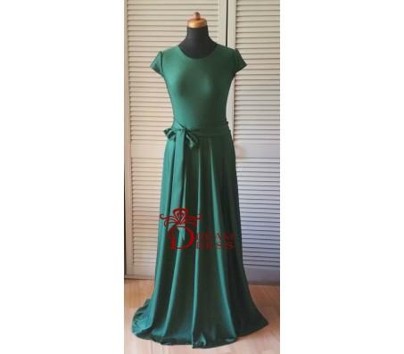 Ilga suknelė ADORIA smaragdinė