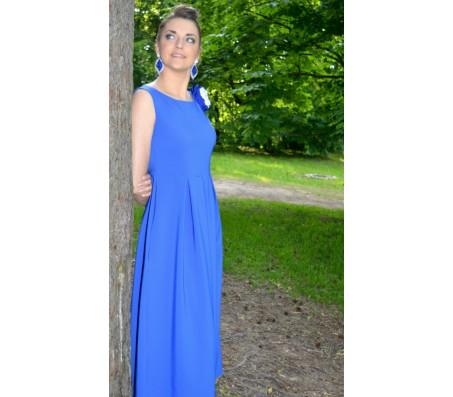 Ilga suknelė MILDA mėlyna
