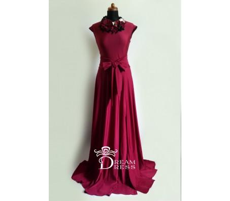 Ilga suknelė ADORIA bordo