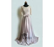 Ilga suknelė CAROLINE kreminė