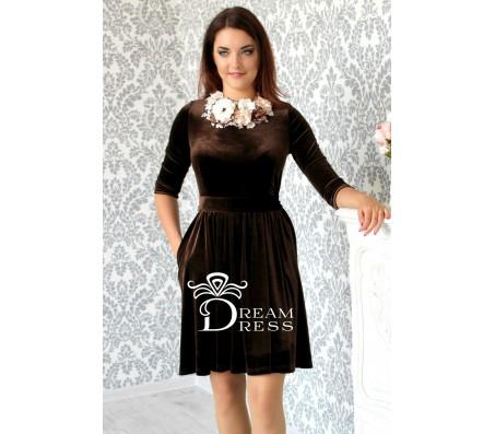 Proginė suknelė AMANDA šokoladinė