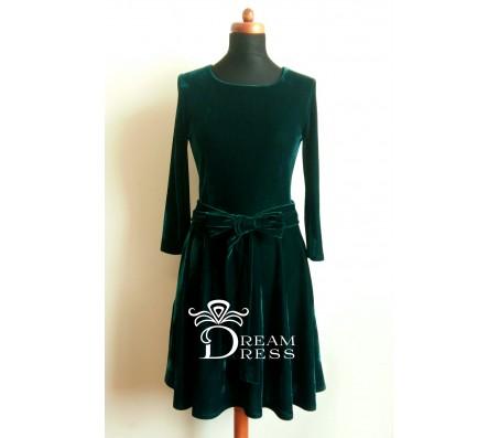 Proginė suknelė PAULA smaragdinė