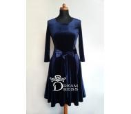 Proginė suknelė PAULA tamsiai mėlyna
