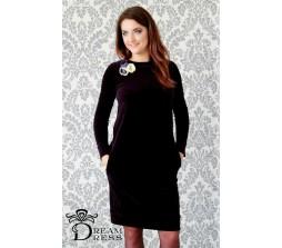 Veliūrinė suknelė ADALIA