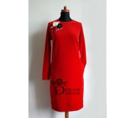 Veliūrinė suknelė ADALIA raudona