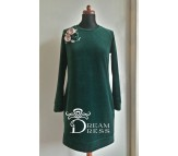 Veliūrinė suknelė ADALIA žalia