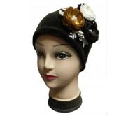 Veliūro kepurė ANGEL šokoladinė 2